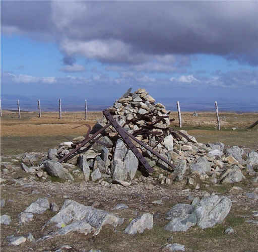 "First ""Cairn"" on Harter Fell"