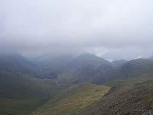 Looking towards Ennerdale and Buttermere valleys