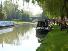 Moored at Blue Lias Pub Br 23