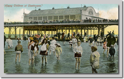 Happy Children at Cleethorpes circa 1910
