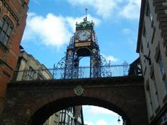 Much photographed clock in Chester