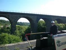 Vic on Marple Aqueduct